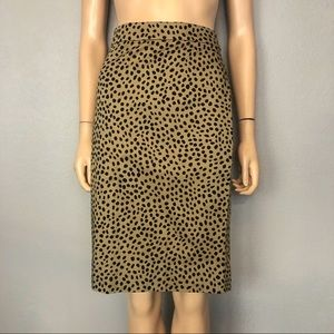 J Crew No. 2 Pencil Skirt Spotted Cheetah Print